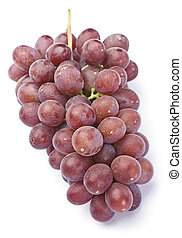 Grape fruit - Fresh purple grape fruit on white background