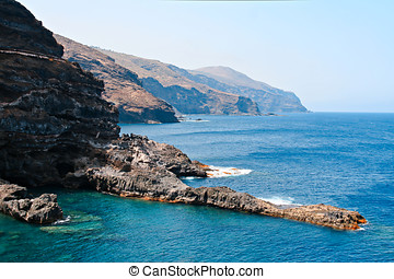 Cliffs in La Palma, Canary Islands