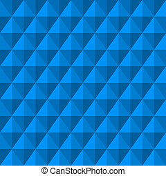 Abstract background with 3d blue diamonds. Seamless pattern....