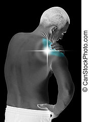 shoulder ache - young man having neck and shoulder ache...