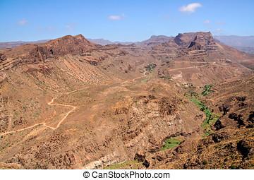 Rocky desert in Gran Canaria, Canary Islands