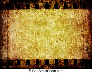 Grunge Film Negative Background Texture - A distressed...