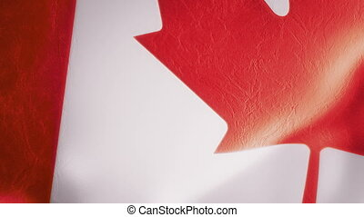Slow Motion Canadian Flag Intro - Intro animation of a rich,...