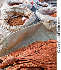 tobacco 119 - high grade pip tobacco and leaves in sacks...