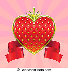 Valentines Day strawberry - Jewelry Valentine red strawberry...