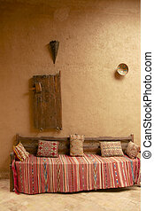 Moroccan Couch - Indoor scene with moroccan style decoration