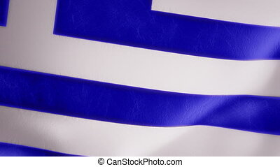 Slow Motion Greek Flag Intro - Intro animation of a rich,...