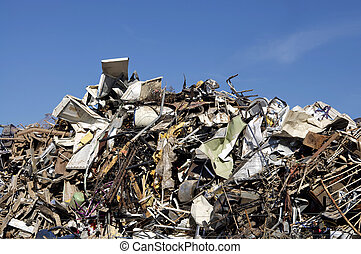 Scrap metal at dump - Scrap metal at garbage dump