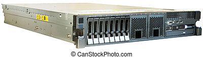 Rackmount server over white - Rack mount server isolated on...
