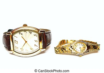 Wrist watches - photo of the wrist watches on white...