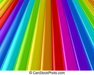 Color palette over background, 3d rendered image