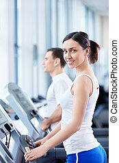 People involved in fitness