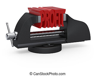 Table vise squeezing profit - Table vise squeezing word...