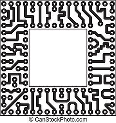 Electronic element - slot - Monochrome electronic board -...