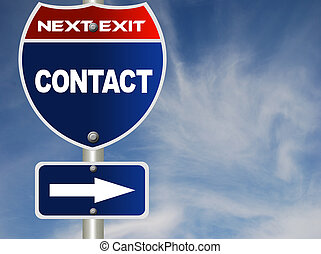 Contact road sign