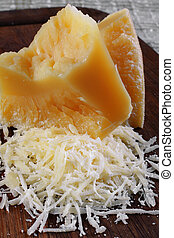 Parmesan cheese - Dairy product parmesan cheese broken...