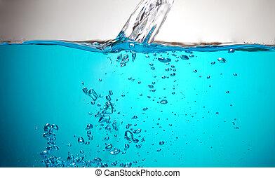 Clean water splashing, close-up shot