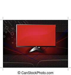 Wide screen HDTV LCD Monitor - abstract background and Wide...