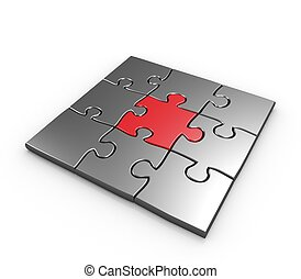 Success of business puzzles concept - Success of business...