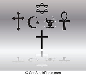 religious signs vector illustration