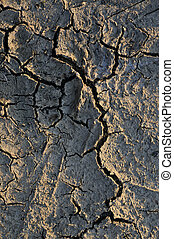 Cracked texture 2 - Close up on cracked texture with sunset...