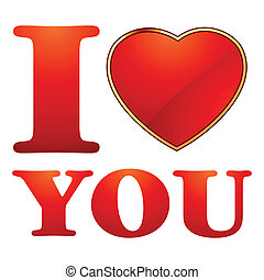 I love you valentine card template EPS 8 vector file...