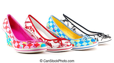 lady colorful shoes
