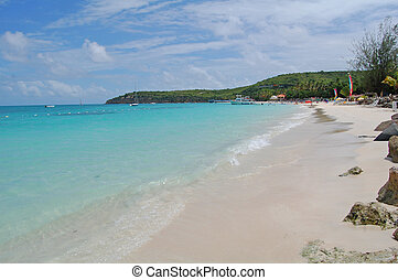 antigua beach view - view of beach at antigua holiday resort
