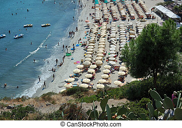 A beach in summer - Fetovaia beach, Elba island, Tuscany,...