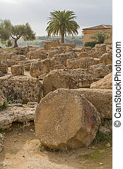 Ruins of Castor and Pollux temple