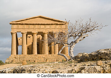 Ruins of Concord temple in Agrigento.