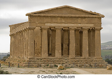 Ruins of Doric Temple in Agrigento