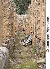 Ruins of Zeus temple in Agrigento