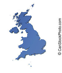 Map of UK - High resolution map of UK