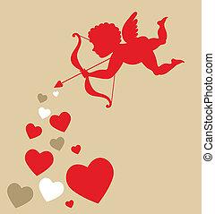 cupid, corações