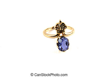 Ring with blue gem