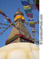 Boudhanath Stupa - Boudnanath Stupa 14th century, one of the...