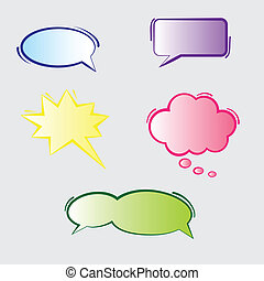Text Bubbles - Colorful blank speech text bubbles