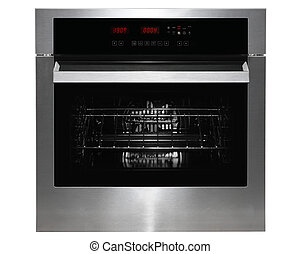 Kitchen oven - Black gass and metal kitchen oven front on...