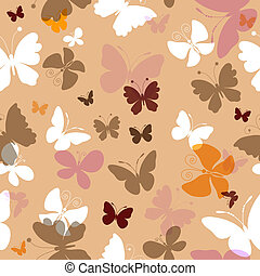 Repeating pattern with butterflies - Repeating pastel...