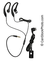 hands-free system - Black hands-free system isolated on...