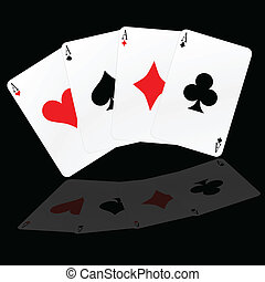 poker card with big sign