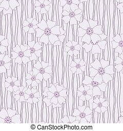vector seamless background with flowers - vector seamless...