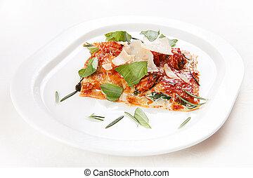 nourriture, lasagne, italien