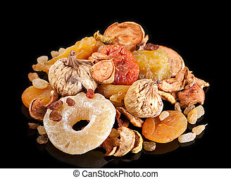 Dried fruit mix - Dried fruit with candided pineapple on...