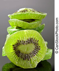 Candided fruit kiwi - Candided fruit kiwi closeup with...