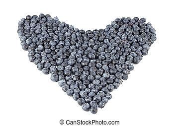 Blueberry Heart Organic - Natural blue purple fruit berry in...