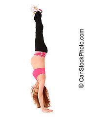 Maternity Hand Stand Upside Down - Beautiful fit young...