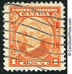 stamp - CANADA - CIRCA 1927: stamp printed by Canada, shows...