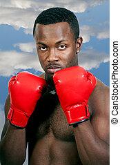 Black Man Boxer